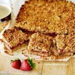 Ciasto z kruszonki z truskawkami i mąką orkiszową