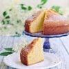 Ciasto Cytrynowe z Syropem z Kwiatu Czarnego Bzu