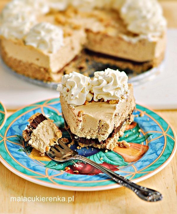 Ciasto z masłem orzechowym, czekoladą i serkiem cream cheese
