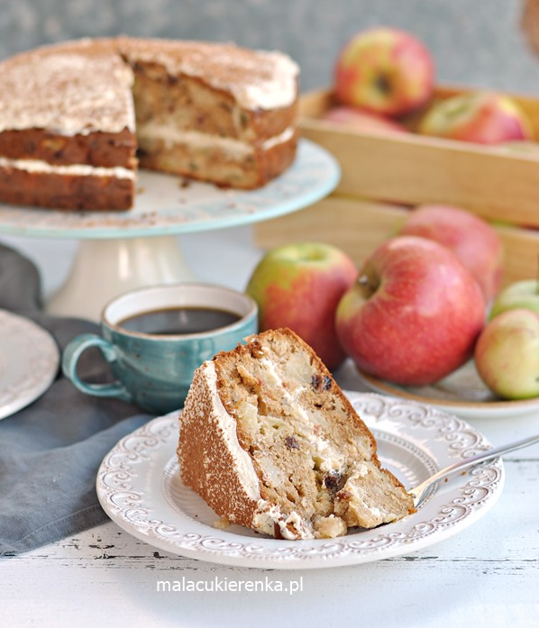 Ciasto Jabłkowe z Kremem Serowym