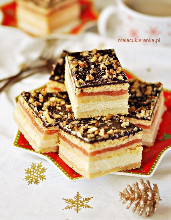 Ciasto Świąteczny Przekładaniec z Serem i Jabłkami