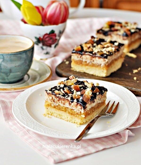 Ciasto Niebo z Jabłkami i Kremem Orzechowym