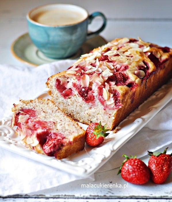Łatwe Ciasto z Truskawkami Bez Cukru Bez Glutenu