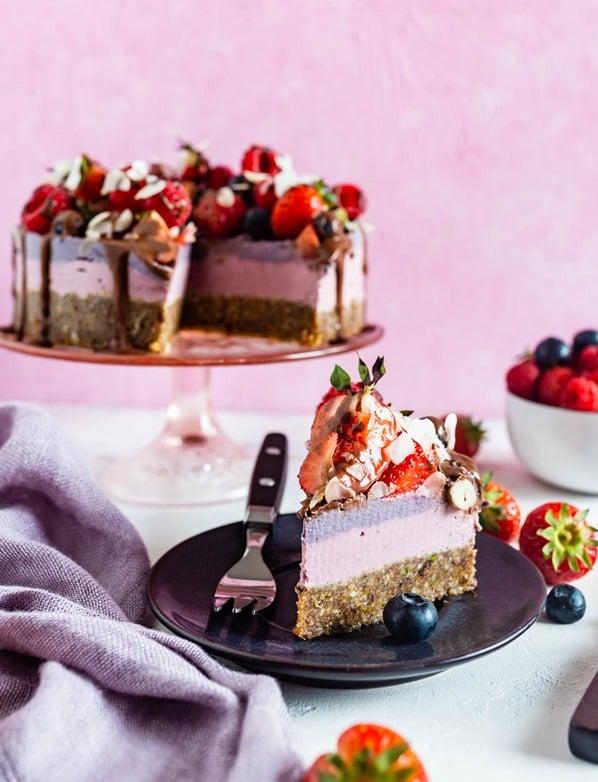 Ciasto Wegańskie Owocowo - Orzechowa Pycha Na Zimno, Bez Cukru, Bez Glutenu