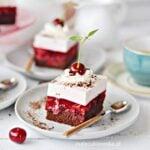 NAJLEPSZE Ciasto WIŚNIOWE z Kremem Jogurtowym