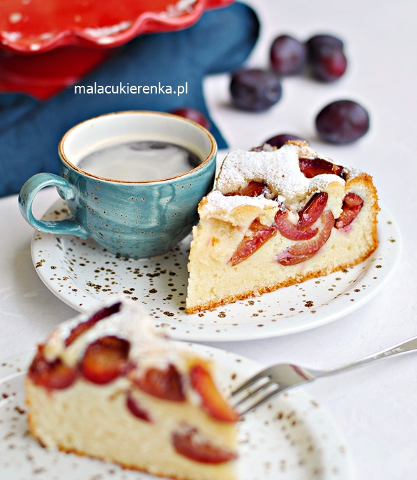 Szybkie PUSZYSTE Ciasto ze ŚLIWKAMI