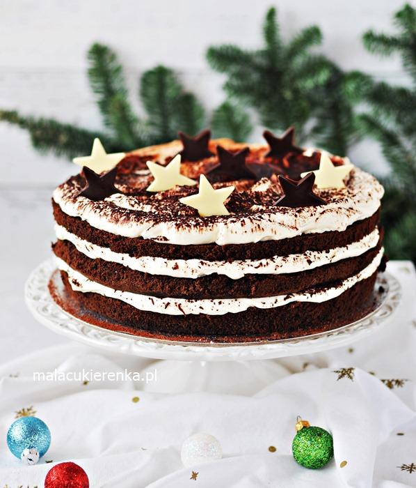 Ciasto Torcik Proste Świąteczne Tiramisu z Czekoladą