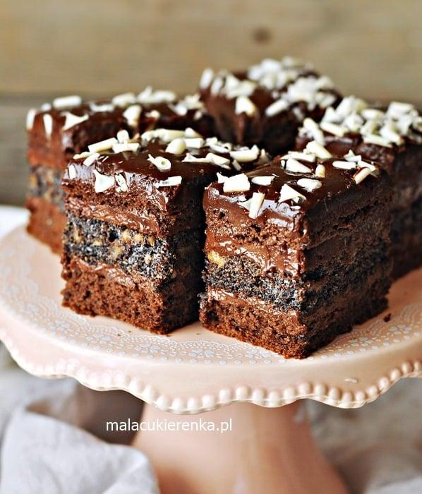 Ciasto EUFORIA czekoladowe z makiem i krówką