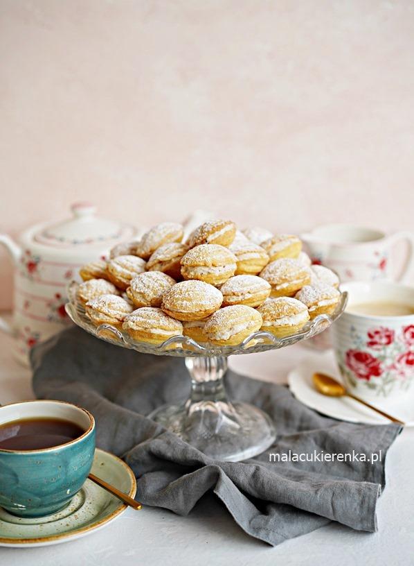 Ciastka ORZESZKI pieczone w piekarniku z kremem orzechowym
